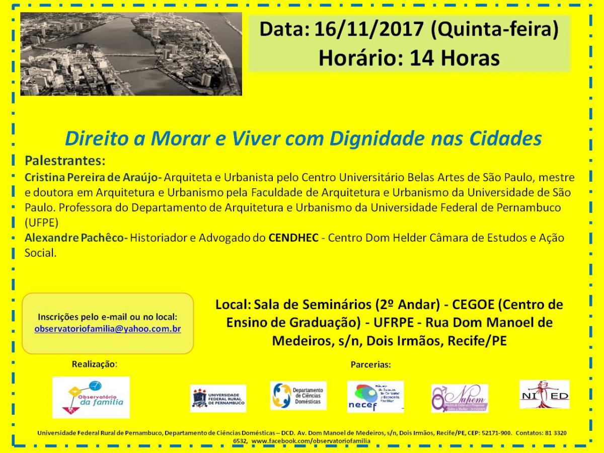 Cartaz evento e programação do evento.